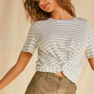 Forever 21 Striped Twist-Front Tee - NWT!